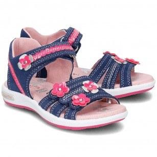 Ортопедични детски сандали за момиче Superfit сини/розови
